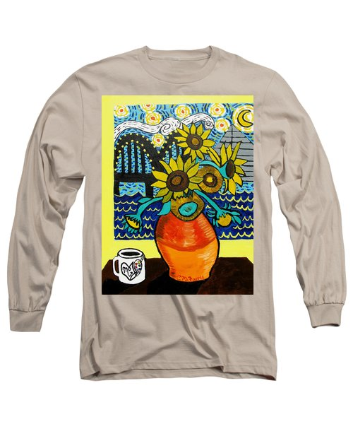 Sunflowers And Starry Memphis Nights Long Sleeve T-Shirt