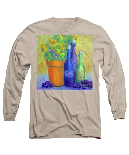 Sunflowers And Wine Long Sleeve T-Shirt