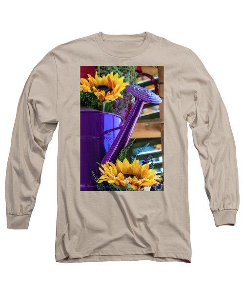 Complementary Sunflowers Long Sleeve T-Shirt