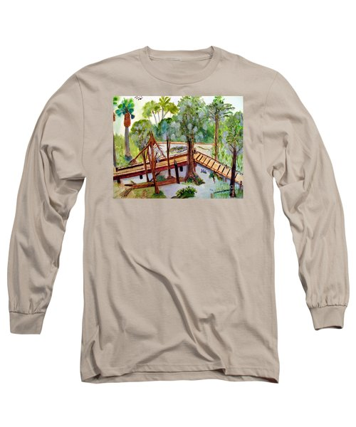 Sunny Day In Central Florida Long Sleeve T-Shirt by Sandy McIntire
