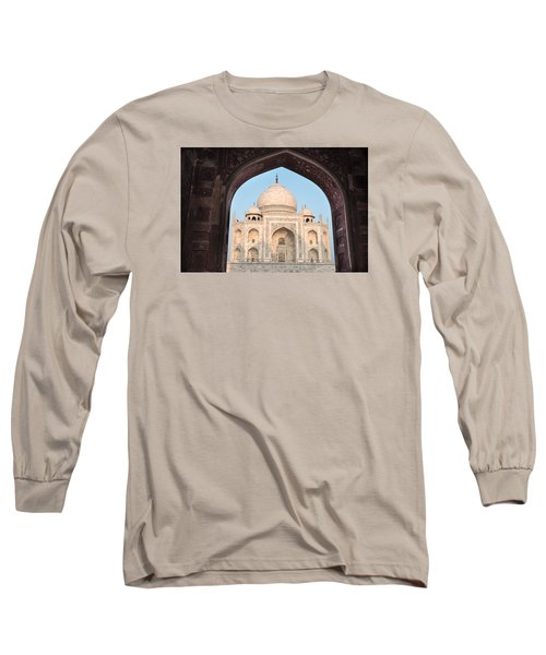 Sunrise Arches Of The Taj Mahal Long Sleeve T-Shirt