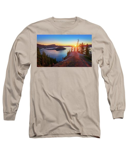 Sunrise At Crater Lake Long Sleeve T-Shirt