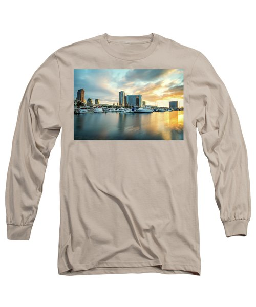 Sunrise At Embarcadero Long Sleeve T-Shirt by Joseph S Giacalone