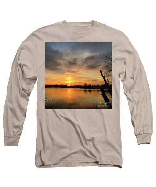 Sunrise At Jacobson Lake Long Sleeve T-Shirt by Sumoflam Photography