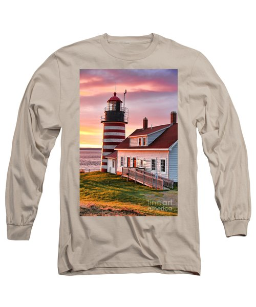 West Quoddy Head Lighthouse 3747 Long Sleeve T-Shirt