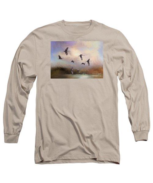 Sunrise Flight Long Sleeve T-Shirt by Janice Rae Pariza