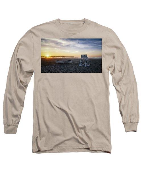 Long Sleeve T-Shirt featuring the photograph Sunrise In Avalon by Eduard Moldoveanu