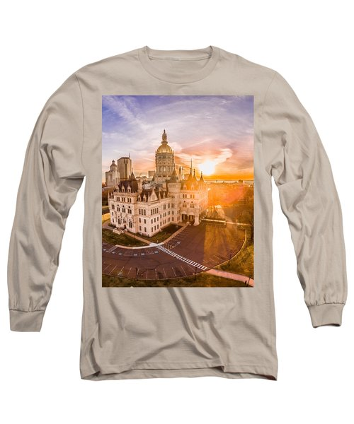 Sunrise In Hartford Connecticut Long Sleeve T-Shirt by Petr Hejl