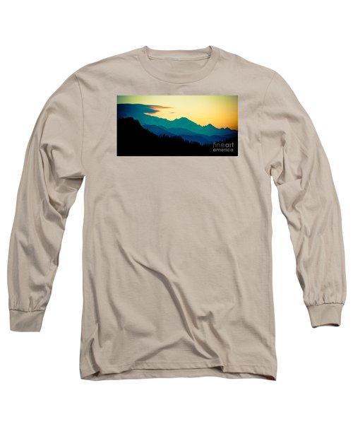 Sunrise In Himalayas Annapurna Yatra Himalayas Mountain Nepal Poon Hill Long Sleeve T-Shirt