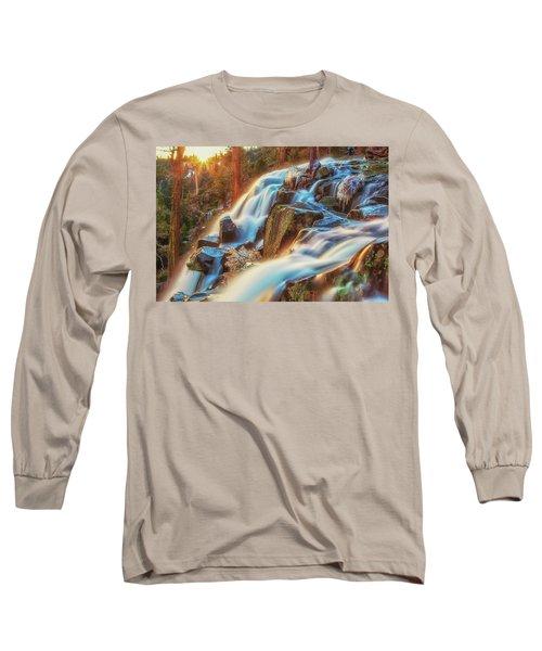 Sunrise Light On Eagle Falls Long Sleeve T-Shirt