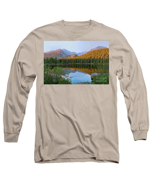 Sunrise On Bear Lake Rocky Mtns Long Sleeve T-Shirt by Teri Brown