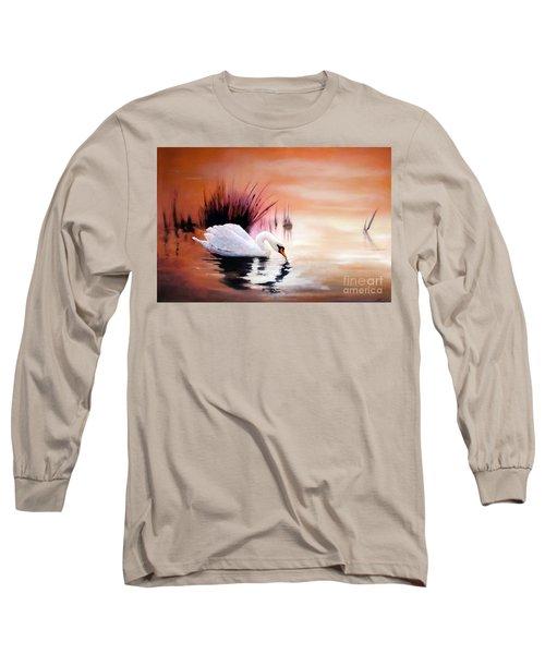 Sunrise On Swan Lake Long Sleeve T-Shirt