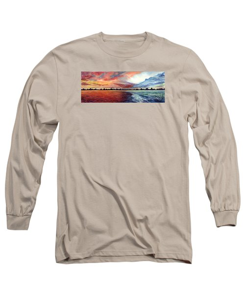 Sunrise Over Indian Lake Long Sleeve T-Shirt by Nancy Cupp