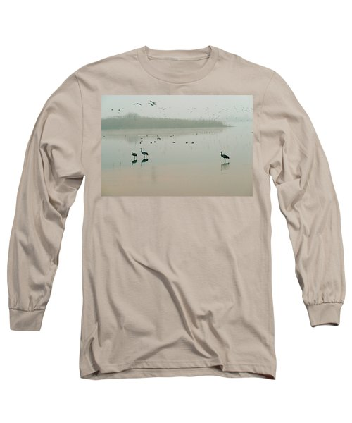 Long Sleeve T-Shirt featuring the photograph Sunrise Over The Hula Valley Israel 2 by Dubi Roman