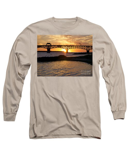 Sunrise Under Coleman Bridge Long Sleeve T-Shirt