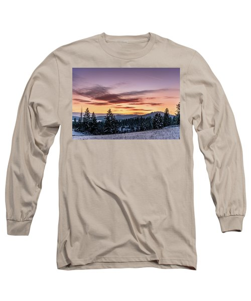 Sunset And Mountains Long Sleeve T-Shirt