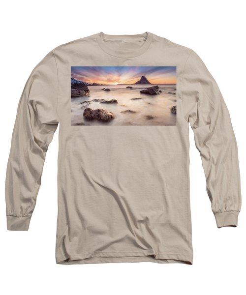 Sunset At Bleik Long Sleeve T-Shirt
