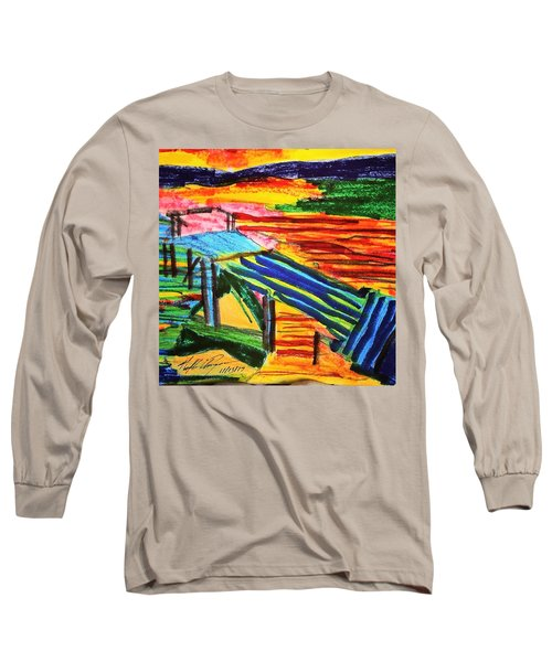 Sunset At Dock Long Sleeve T-Shirt