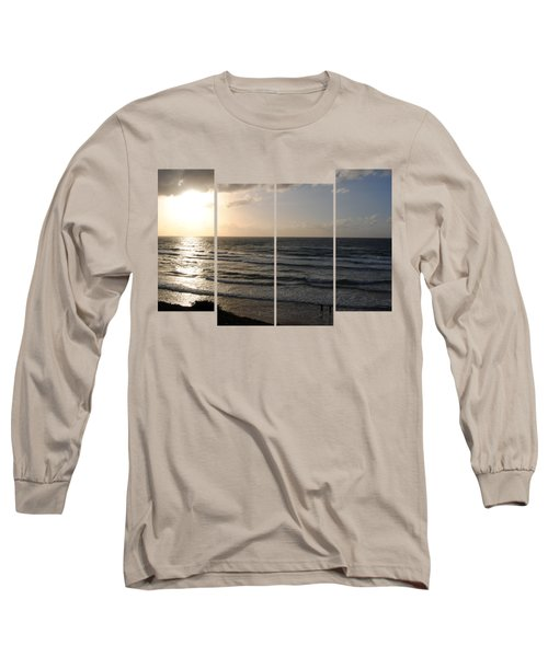 Sunset At Jaffa Beach T-shirt 2 Long Sleeve T-Shirt by Isam Awad