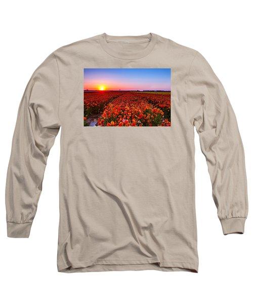 Sunset At Nuriot Field Long Sleeve T-Shirt