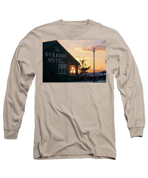 Sunset At Oceanic Motel Long Sleeve T-Shirt