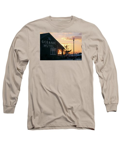 Sunset At Oceanic Motel Long Sleeve T-Shirt