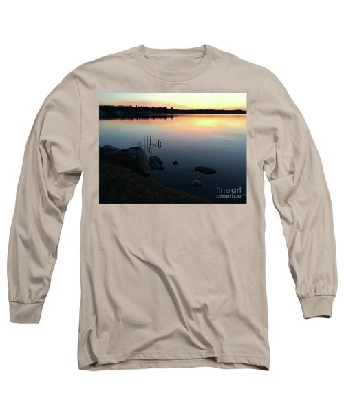Sunset At Pentwater Lake Long Sleeve T-Shirt