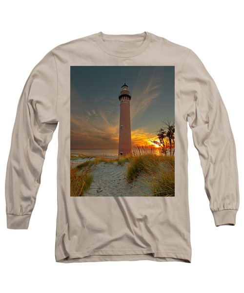 Sunset At Petite Pointe Au Sable Long Sleeve T-Shirt