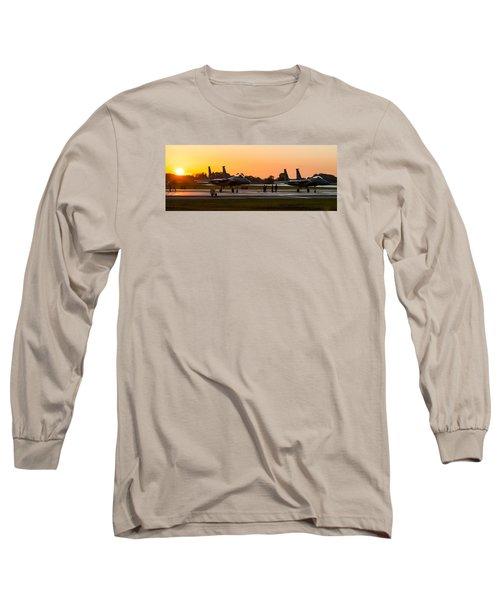 Sunset At Raf Lakenheath Long Sleeve T-Shirt