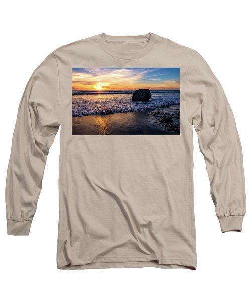Sunset At San Simeon Beach Long Sleeve T-Shirt