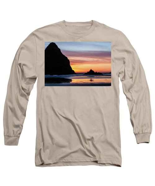 Sunset At Whalehead Beach Long Sleeve T-Shirt