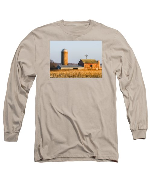 Long Sleeve T-Shirt featuring the photograph Sunset Barn by Dan Traun