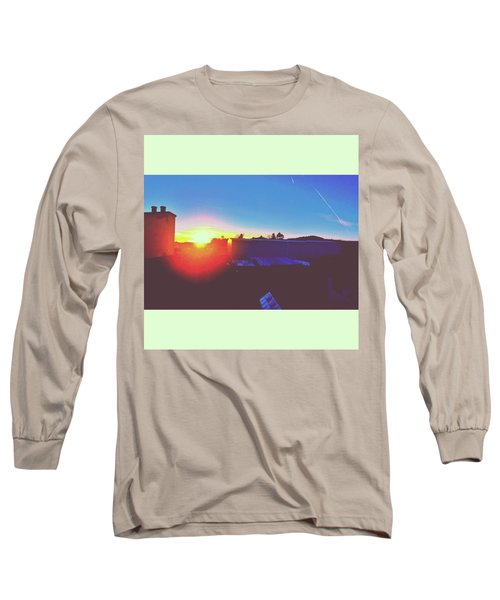 #sunset #bluesky #sun #l4l #lfl Long Sleeve T-Shirt