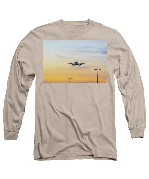 Sunset Flight Long Sleeve T-Shirt by Ross G Strachan