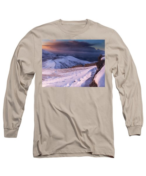 Sunset Following The Mourne Wall Long Sleeve T-Shirt
