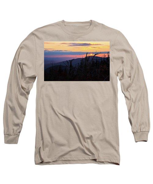 Sunset From Caps Ridge, Mount Jefferson Long Sleeve T-Shirt