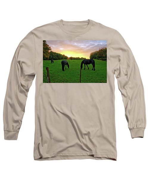 Sunset Horses Long Sleeve T-Shirt