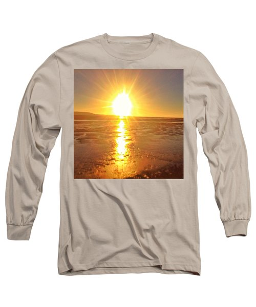 Sunset In College. #sunset  #sun Long Sleeve T-Shirt