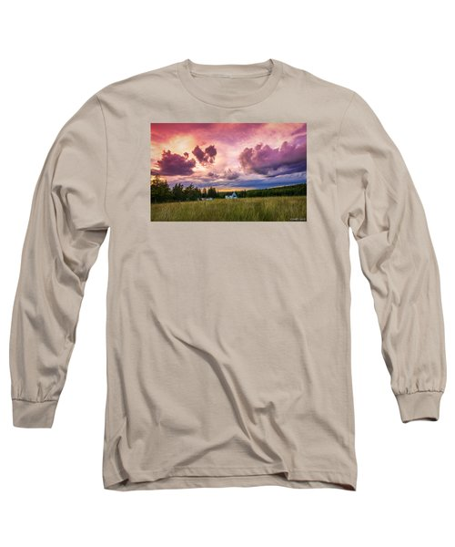 Sunset In Rear Intervale Long Sleeve T-Shirt by Ken Morris