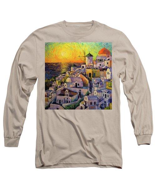 Sunset In Santorini Long Sleeve T-Shirt