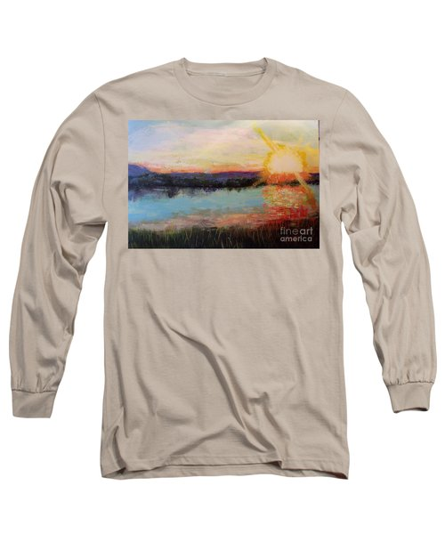 Sunset Long Sleeve T-Shirt by Marlene Book