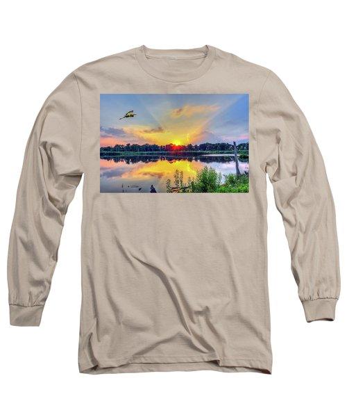 Sunset On A Chesapeake Bay Pond Long Sleeve T-Shirt