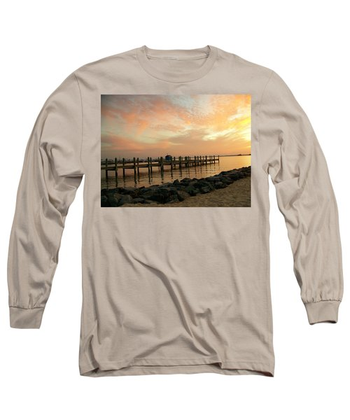 Sunset On Dewey Bay Long Sleeve T-Shirt