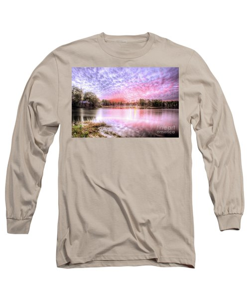 Sunset On Flint Creek Long Sleeve T-Shirt by Maddalena McDonald