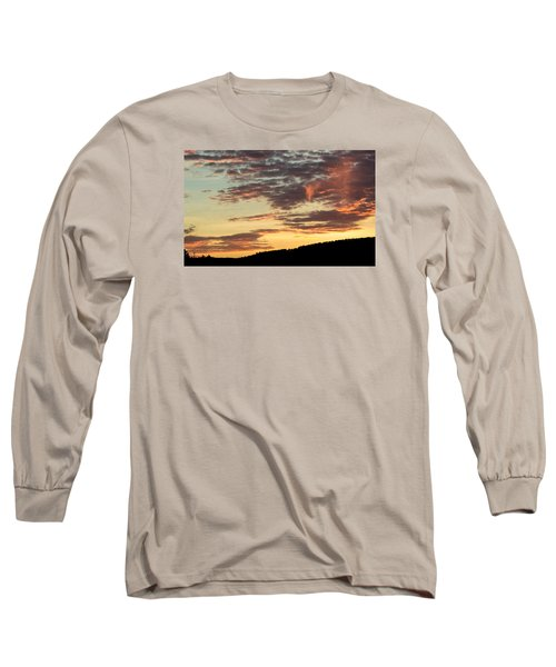 Sunset On Hunton Lane #6 In The Company Of Angels Long Sleeve T-Shirt by Carlee Ojeda