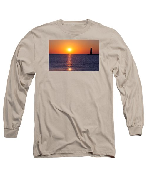 Sunset On Lake Michigan Long Sleeve T-Shirt
