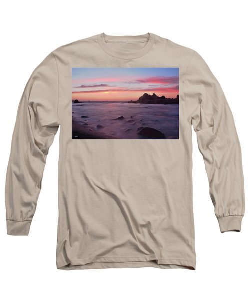 Sunset On Monterey Bay Long Sleeve T-Shirt