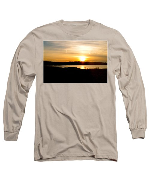 Long Sleeve T-Shirt featuring the photograph Sunset On Morrison Beach by Jason Lees