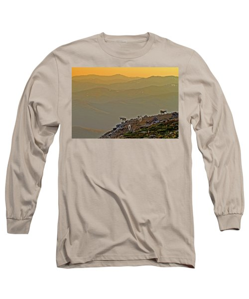 Long Sleeve T-Shirt featuring the photograph Sunset On The Edge by Scott Mahon