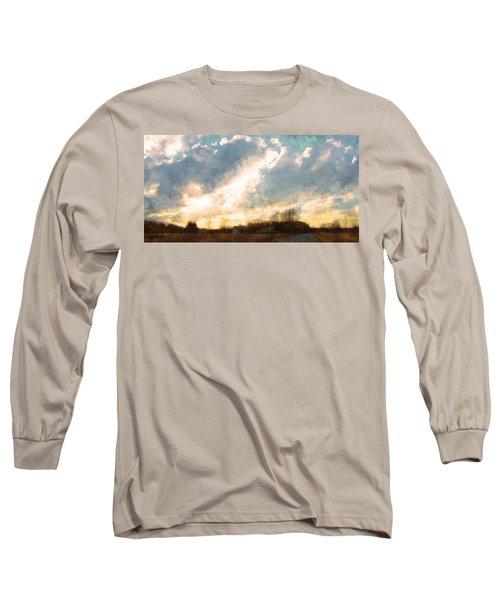 Sunset On The Farm Long Sleeve T-Shirt